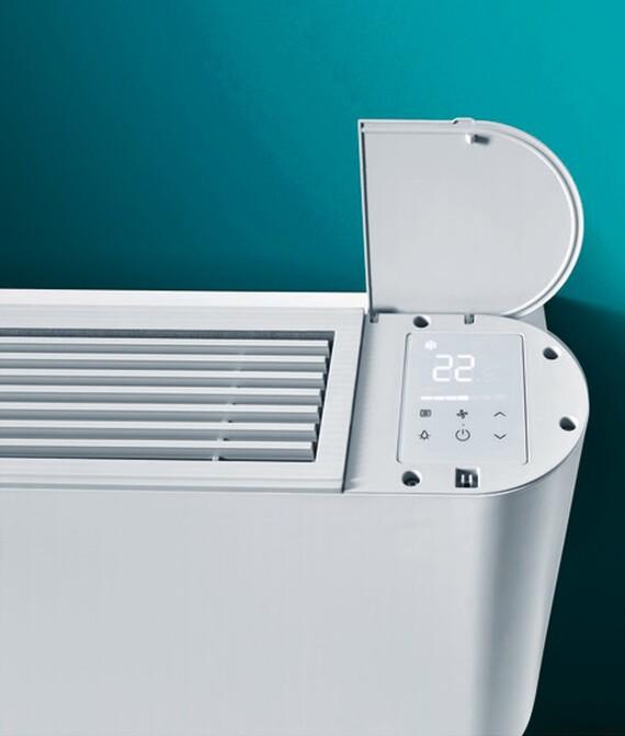 aroVAIR console met geïntegreerde thermostaat