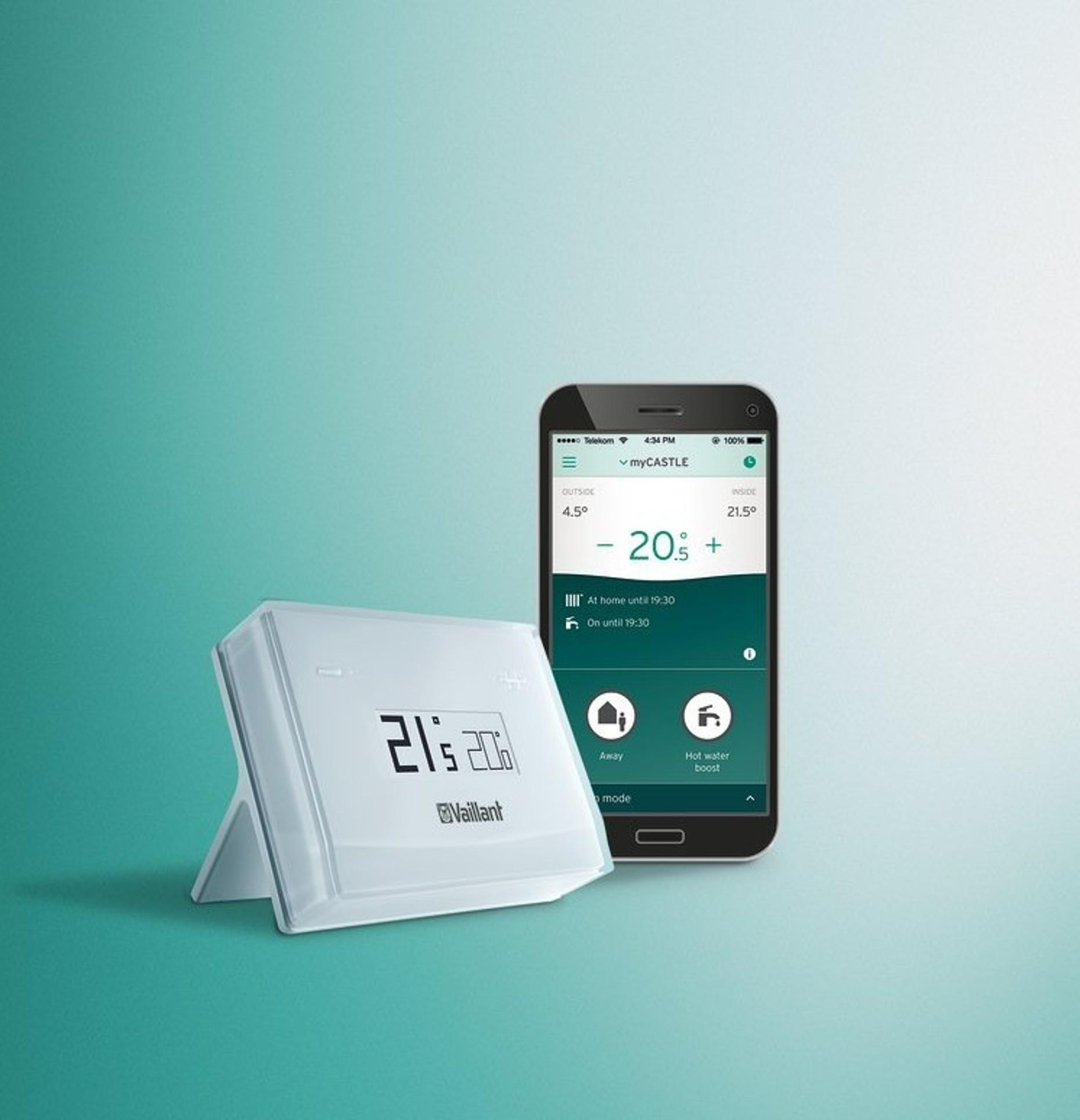 vSMART slimme thermostaat en vSMART-app - Vaillant