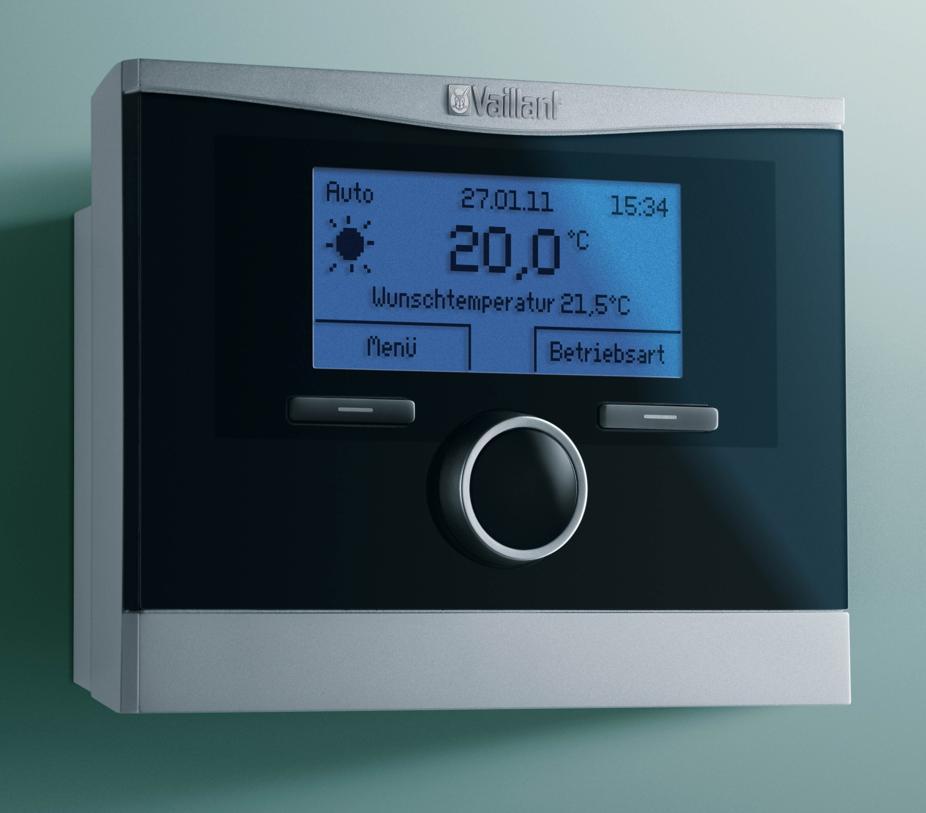 thermostat modulant sans fils calormatic vrt 370 f vaillant. Black Bedroom Furniture Sets. Home Design Ideas