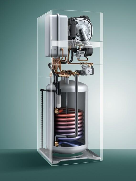 Chaudi re sol condensation au gaz avec boiler d 39 eau for Chaudiere murale gaz avec eau chaude sanitaire instantanee