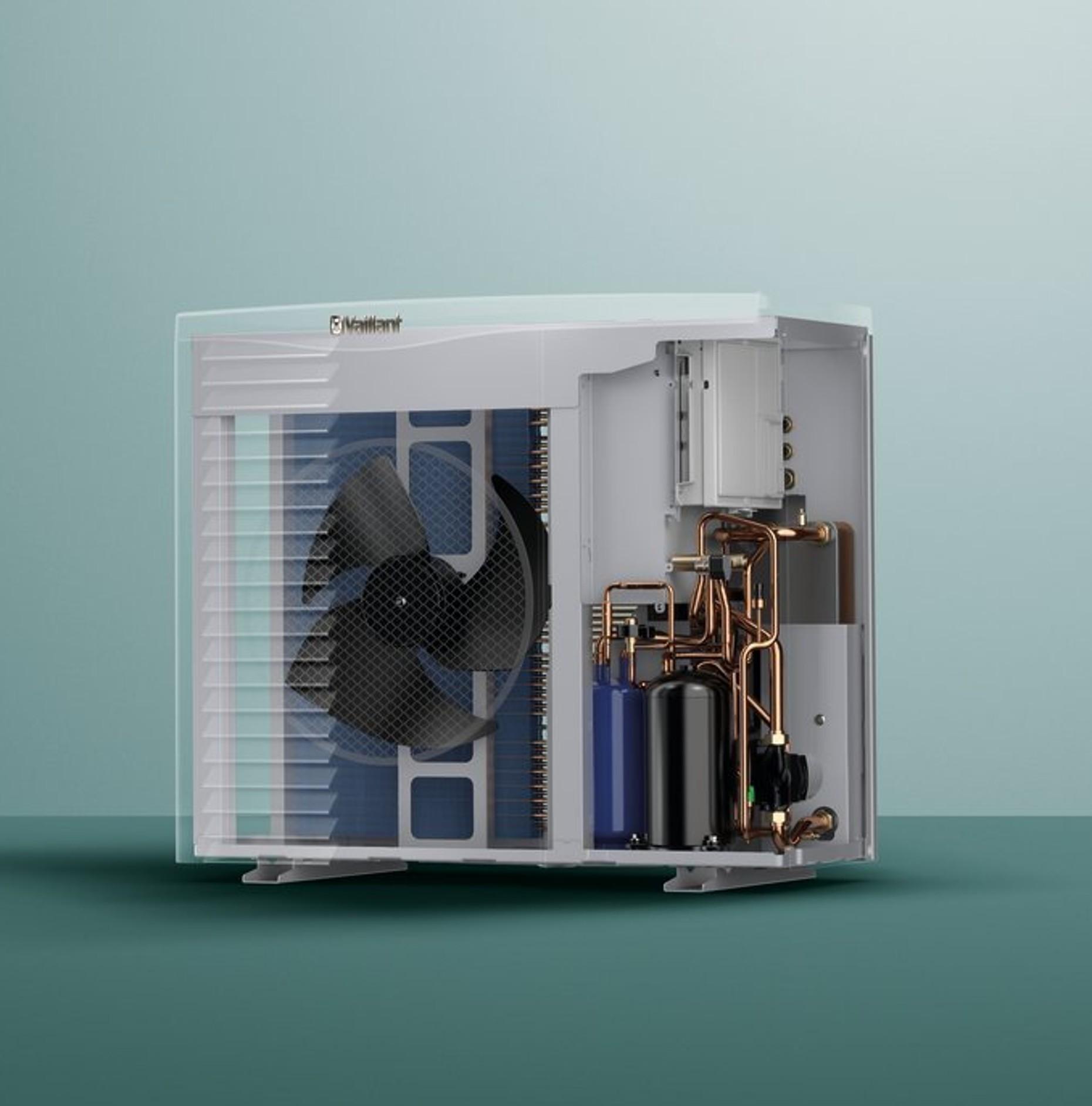 Pompe chaleur air eau arotherm vwl vaillant - Pompe a chaleur air eau monobloc ...