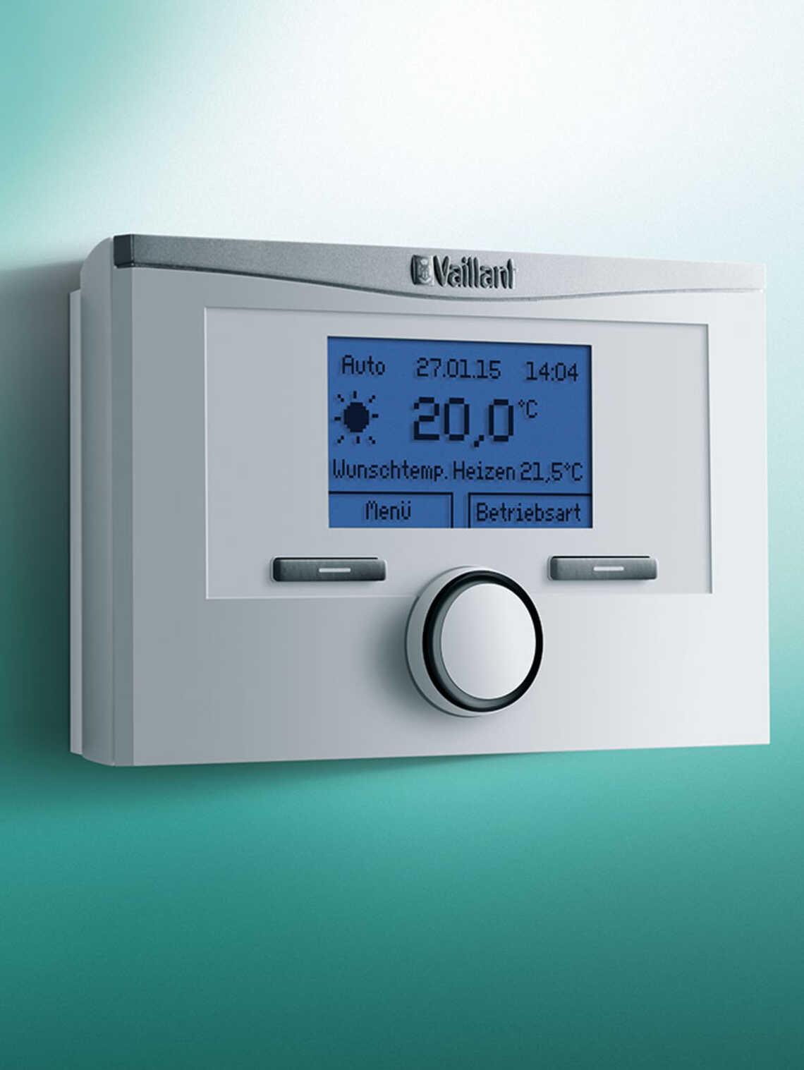 thermostat modulant sans fils calormatic vrt 350 f vaillant. Black Bedroom Furniture Sets. Home Design Ideas