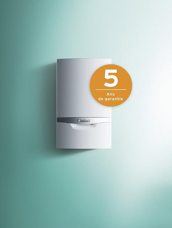 Chaudière murale à condensation au gaz ecoTEC plus avec 5 ans de garantie