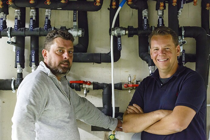 Installateur Tom Leureys en bouwpromotor Stefaan Maes