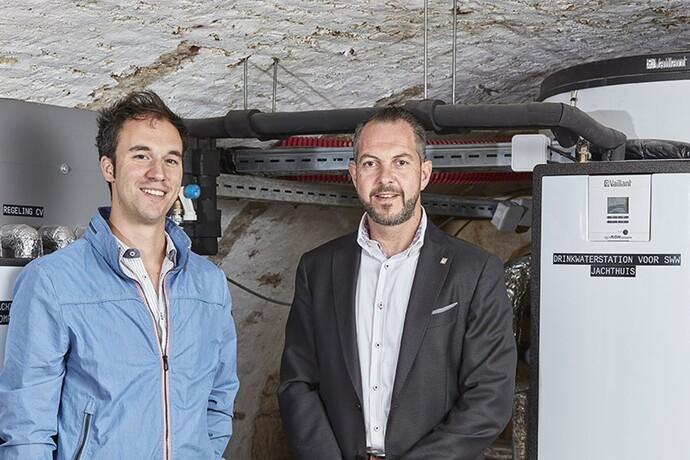 Mathijs Driesen (Driesen sa) et Kurt Schroyen (Vaillant): Nous avons trouvé la solution idéale tant pour la production d'eau chaude que pour les besoins calorifiques du chauffage par le sol